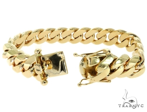 Custom Yellow Gold Miami Cuban Bracelet