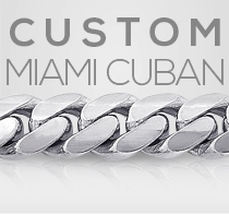 Custom White Gold Miami Cuban Bracelet Gold