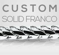 Custom White Gold Solid Franco Chain Gold