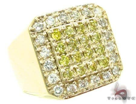 Canary TraxNYC Heavy 14k Gold Ring Stone