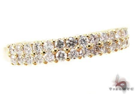 YG Two Row Eternity Band Wedding