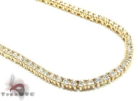 Yellow Gold Diamond Chain 30 Inches, 3mm, 45 Grams Diamond