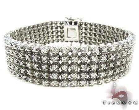 5 Row Bracelet 1 Diamond
