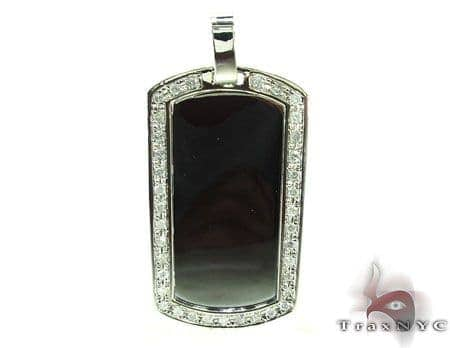 Mens Diamond Dog Tag Pendant 18931 Style