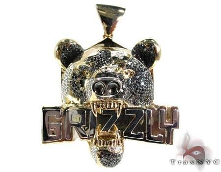 Grizzly Pendant Metal