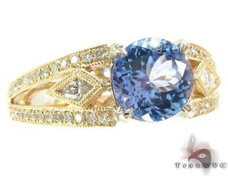 Diamond Tanzanite Ring Anniversary/Fashion