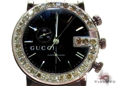 Brown Gucci 101G Chrono Watch YA101341 Gucci