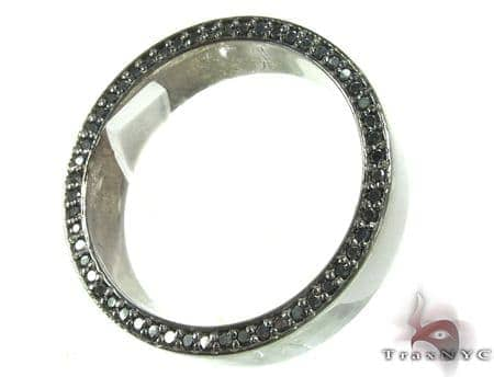 Black Gold Back Diamond Eternity Prong Ring Stone