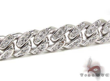 Diamond Miami Link Chain and Bracelet Set Diamond