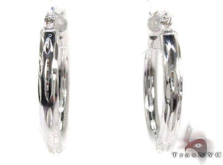 Sterling Silver Hoop Earrings 20034 Metal