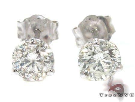 Ladies Prong Diamond Stud Earrings 22081 Stone