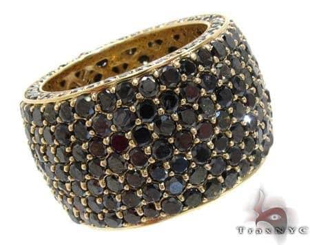 7 Row Fully Black Diamond Ring Style