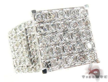 14K White Gold Sparkling Iced Diamond Ring Anniversary/Fashion