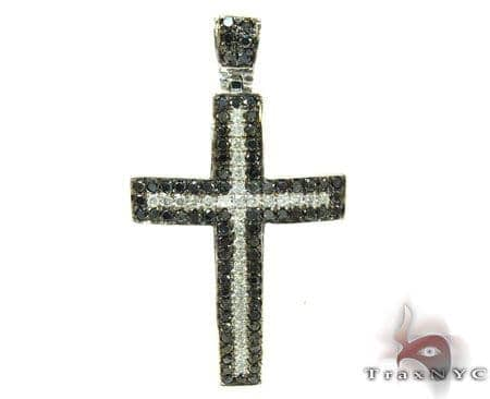 Black and White Diamond Cross Diamond