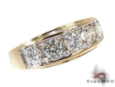Mens Prong Diamond with Yellow Gold Ring Stone