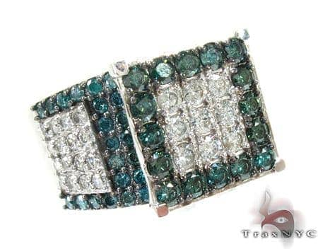 Sparkling Iced Diamond Ring Anniversary/Fashion