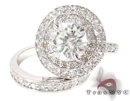 Sunset Diamond Wedding Band Set Engagement