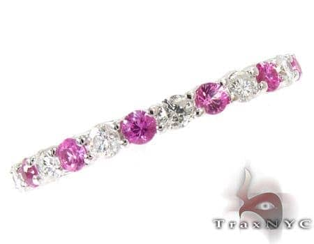 Pink Sapphire Diamond Ring Anniversary/Fashion
