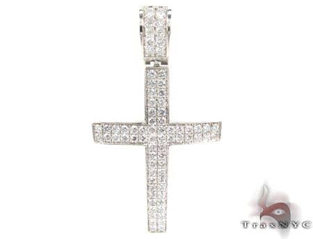 2 Row Pave Diamond Cross Diamond