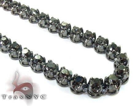 Black Diamond Chain 30 Inches, 5mm, 76.5 Grams Diamond