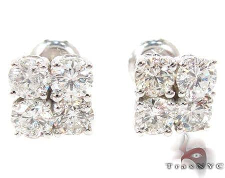 Prong Diamond Stud Earrings 27078 Style