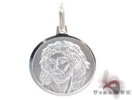 White Gold Coin Pendant 27112 Metal