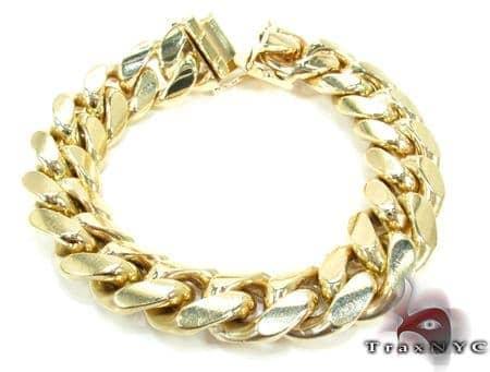 Heavy Miami Link Bracelet Gold