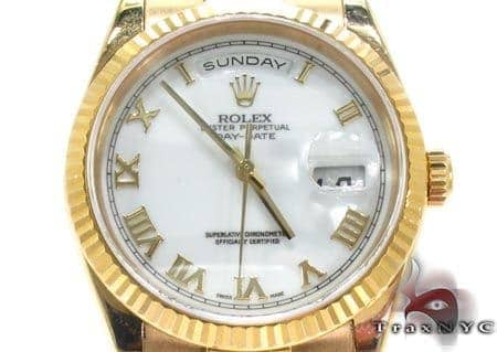 Rolex Yellow Gold Day Date Watch 118238