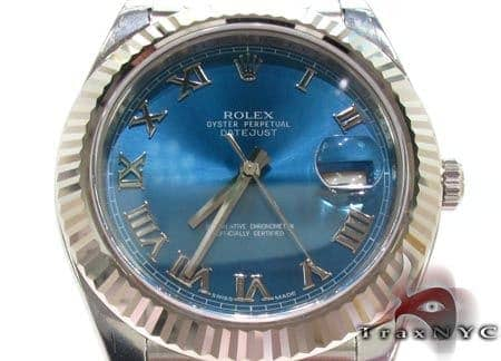 Rolex Datejust II Blue Steel & White Gold 116334