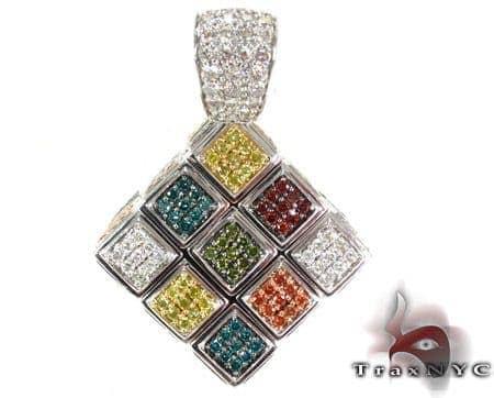 Custom Rubik's Cube Diamond Pendant Metal