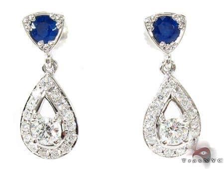Ceylon Sapphire Diamond Earrings Style