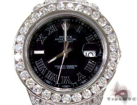 Diamond Rolex Datejust II White Gold and Steel 116334 bkrio Diamond Rolex Watch Collection