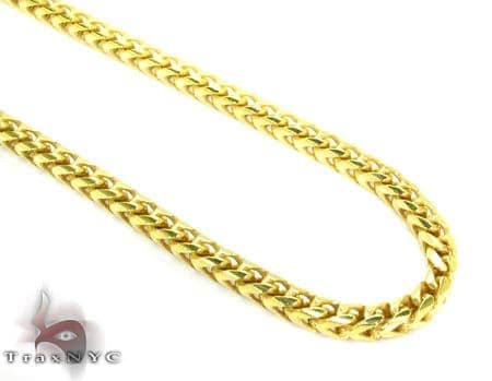 Franco Yellow Silver Chain 36 Inches, 3mm,61.5Grams Silver