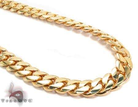 Miami Cuban Curb Link Chain 30 Inches 8mm 146.4 Grams Gold