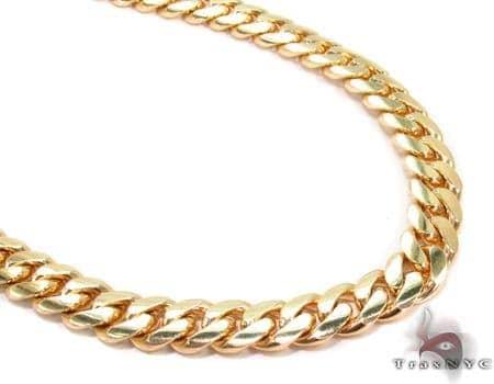 Miami Cuban Curb Link Chain 26 Inches 7mm 88 Grams Gold