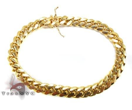 Miami Cuban Link Bracelet 8 Inches 10mm 62.7 Grams Gold