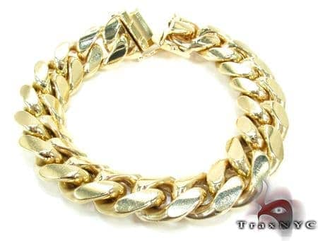 Miami Cuban Link Bracelet 9 Inches 14mm 113.3 Grams Gold