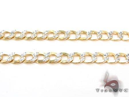 10k Gold Diamond Cut Cuban Chain 30 Inches 4mm 9.07Grams Gold