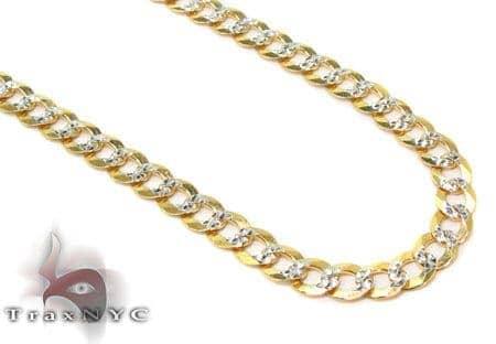 Solid Cuban Diamond Cut Chain 18 Inches 3mm 3.9 Grams Gold