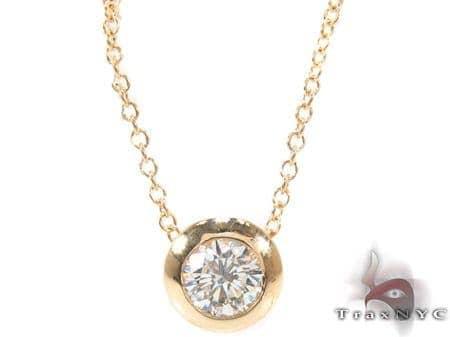 Bezel Diamond Necklace 33414 Diamond