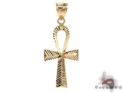 10K Yellow Gold Ankh Cross 33927 Metal