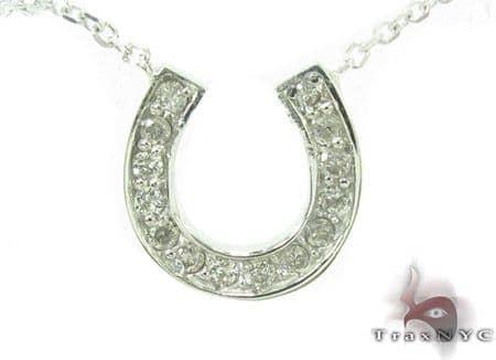 Prong Diamond Horseshoe Necklace 34095 Diamond