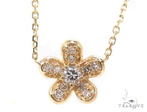 Prong Diamond Flower Necklace 35255 Diamond