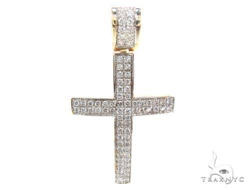 2 Row Pave Diamond Cross Diamond
