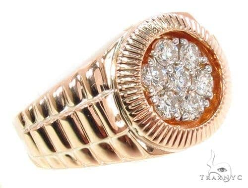 Rose Gold Timepiece Solitaire Band Stone
