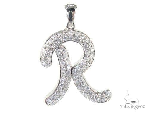 Frozen R Pendant Metal