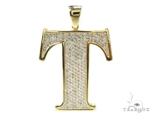 Initial T Diamond Pendant Style