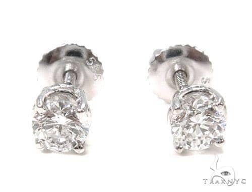 Prong Diamond Earrings 37564 Stone