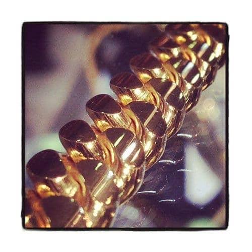 Miami Cuban Curb Link Chain 30 Inches 16mm 552.4 Grams Gold