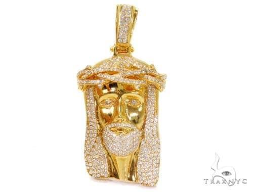 Prong Diamond Jesus Piece Pendant 40714 Style